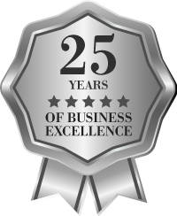 wise dental 25 year anniversary badge